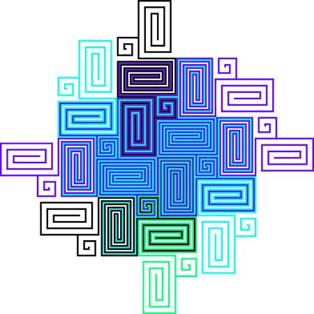 artwork: Multicolor Labyrinth Artwork - BlueTheme