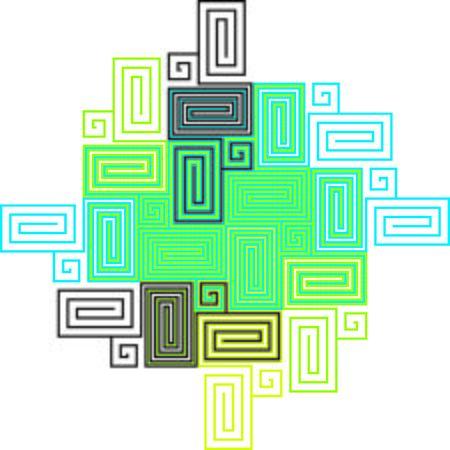 artwork: Multicolor Labyrinth Artwork - Green Theme