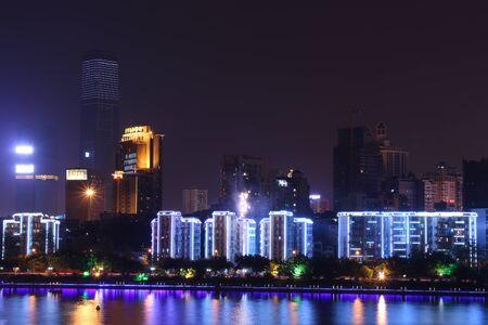 Vista nocturna Foto de archivo - 52568926