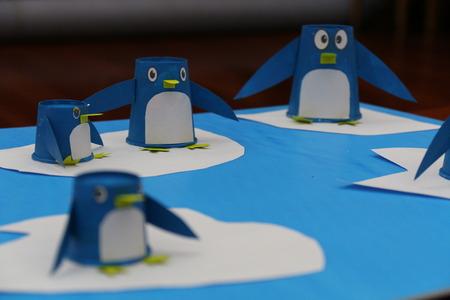 paper cup: Paper Cup Penguin