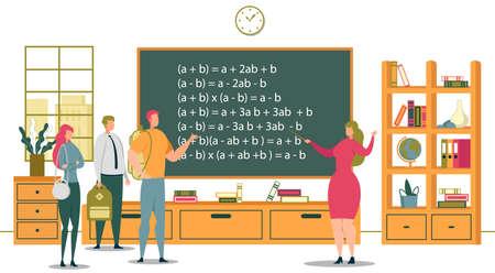University Education and Academic School Students. Illustration