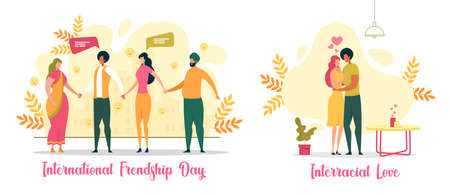 International Friendship Day Flat Vector Concept