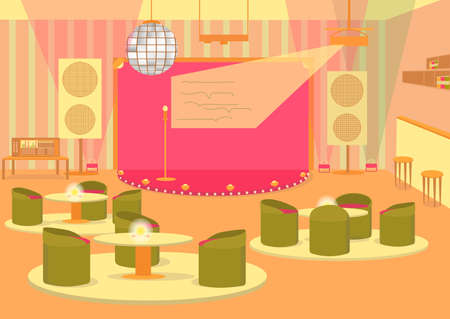 Celebration Hall for Party or Wedding with Stage.