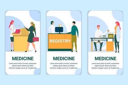 Registry in Hospital, Client Buying Pills Posters.