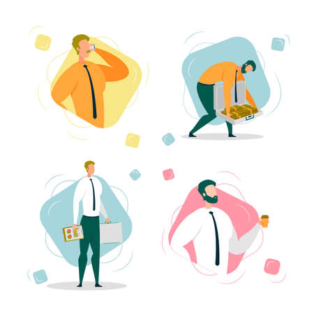 Businessman or Entrepreneur Working and Earning.
