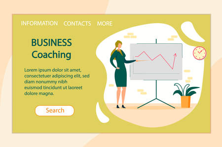 Woman Company Leader or Coach Conducting Training