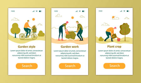 Garden Style, Work, Plant Crop Vertical Banners
