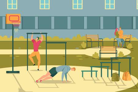 Students Training at University Courtyard Flat.