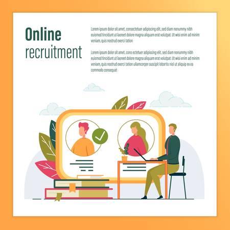 Businessman Using Internet Recruitment Services.