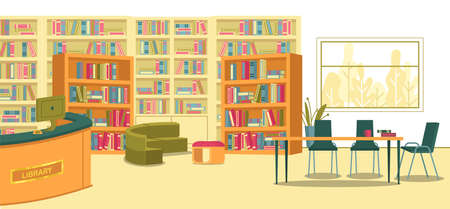 Modern School Library Space for Learning Activity