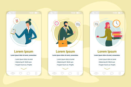 Company Employees Onboarding App Screen Template