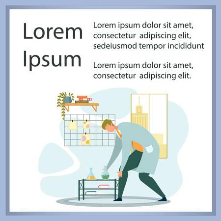 Chemists Scientists Equipment at Laboratory Poster Иллюстрация