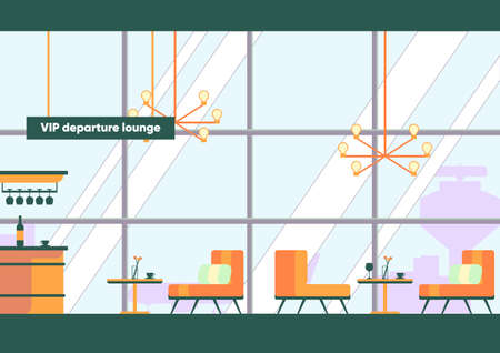 Departure Lounge with Bar Counter Table Couch