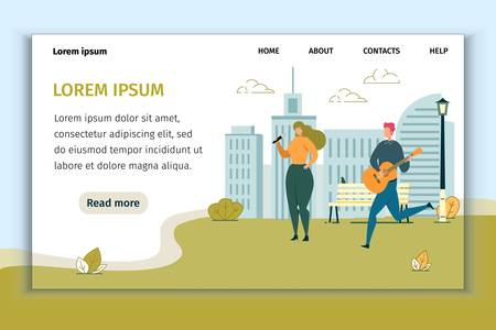 Street Performance in Park Design Landing Page