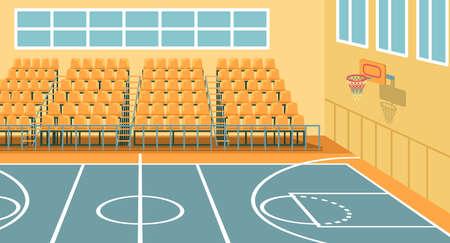 Salle de sport scolaire pour entraînements, jeux et événements