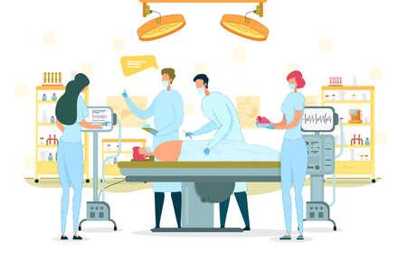 Surgeon Perform Operation, Organ Transplantation.