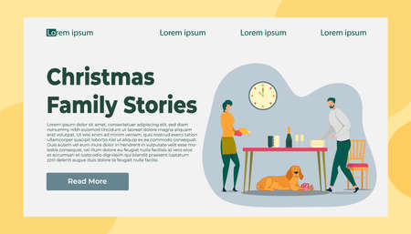 Christmas Family Story and Happy Holidays Time Illustration