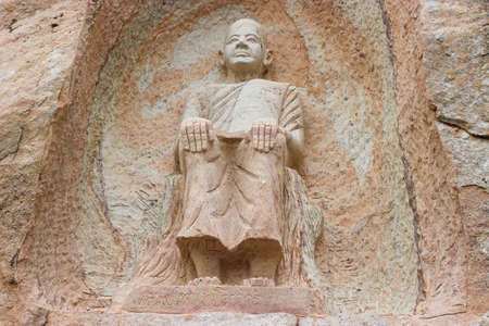 statuary: Buddhist saint statuary of Sakonnakhon province in Thailand. Stock Photo
