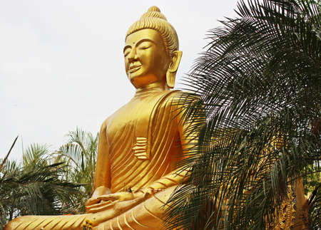 godly: Buddha statue at temple in Thailand.