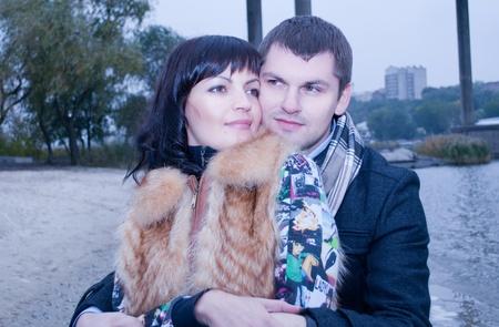 portrait of happy couple  photo