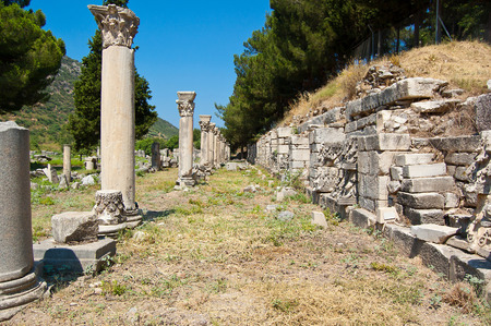 hilt: antique ruins of the old city the Hilt in the territory of Turkey