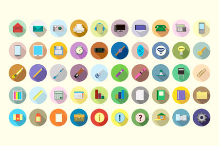 office supplies: Icons of office supplies Illustration