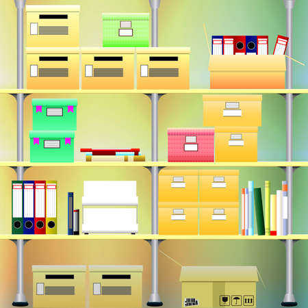 shelving: Office shelving for storage of documents and books