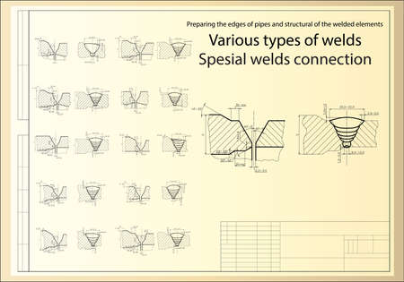 grid background: special weldet joints of pipelines