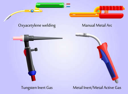 Torches various welding methods Illustration