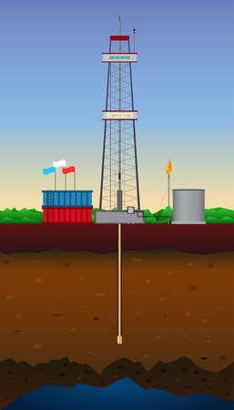 fracturing: Drilling rig and natural gas reservoir