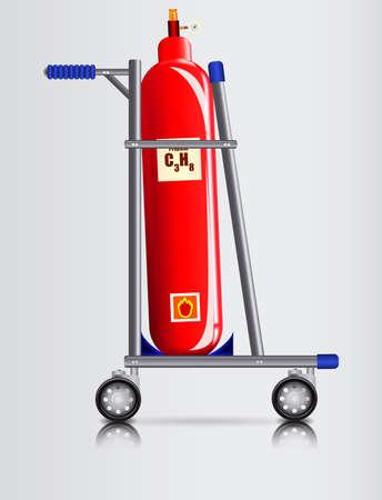 dangerous goods: Trooley for transport of dangerous goods Illustration