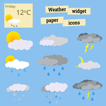 widget: Weather widget icons for  different weather events
