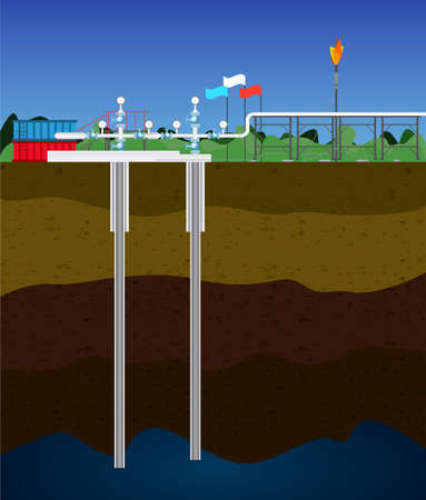 extraction: Extraction of natural gas  Image of the process gas extraction