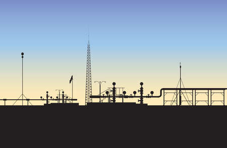 Extraction of natural gas (The Middle East) / Image of the process gas extraction (The Middle East)