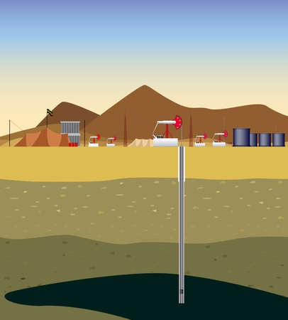 extraction: Extraction of oil (Middle East)  Extraction of oil  in the the desert