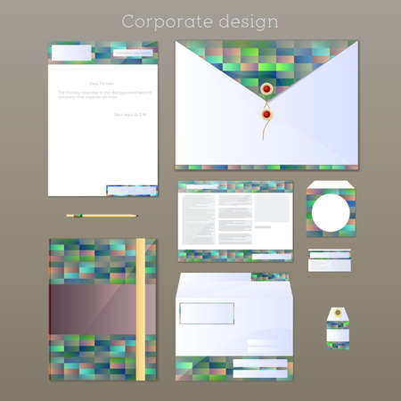 stationery items: Corporate design concept  Set of stationery items made in the same design Illustration