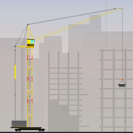 tower crane: Tower cranes for industrial use  Tower crane building a high-rise buildings
