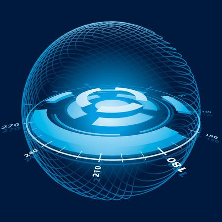 planet futuristic: Fantasy Space Navigation Sphere.