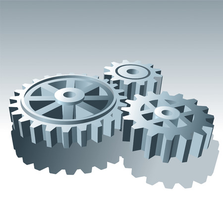 Metal Set of Operation Gears. Vector Illustration. Stock Vector - 7708341