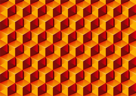 Warm colors transparent Boxes 3D pattern Illustration. Stock Vector - 7805798