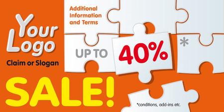 buono sconto: Modello di coupon di sconto. Sostituire il testo con la vostra.  Illustrazione.