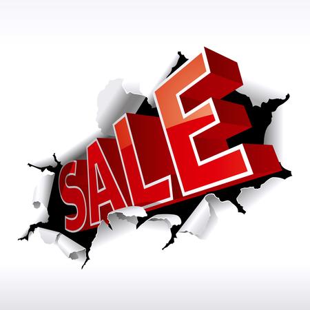 sales trend: Sale inscription