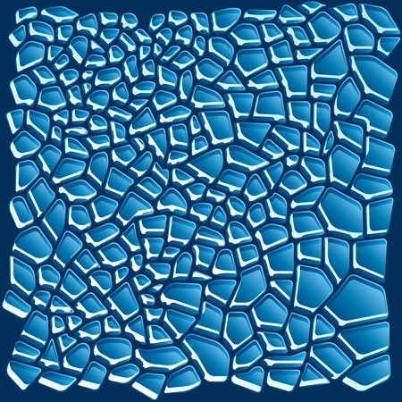 winter break: Cracked Transparent Ice Background. Vector Illustration