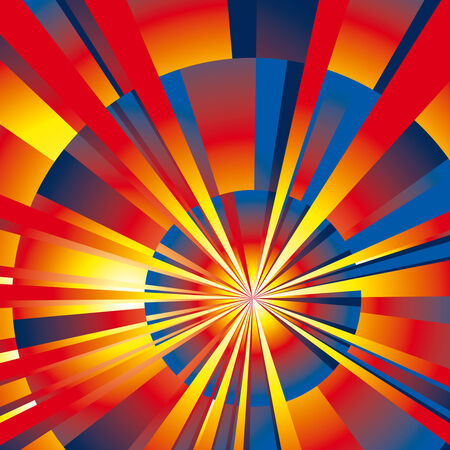 Vibrant Color radial rays background. Vector Illustration Stock Vector - 8145108