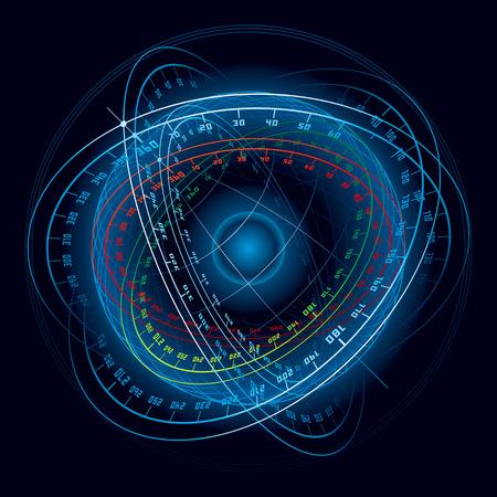 espaço: Fantasy Space Navigation Sphere. Vector Illustration (EPS v.8.0)