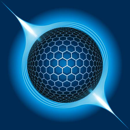 Fantasy Electric Sphere Stock Vector - 8400496