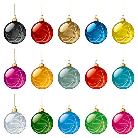 translucent: Set di vetro palle di Natale con fiocchi di neve Ornament