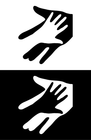 Adult Care about child. Two hands  Stock Vector - 8640776