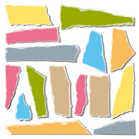 Torn paper pieces Stock Vector - 8682614