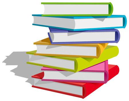 paper stack: Stack of multicolor books